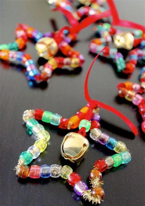 pipe cleaner bead ornaments estrella de navidad pony sparkle