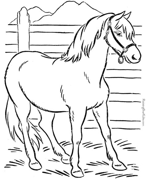 Animal Coloring Page Of Horse To Print Free Printable Coloring Pages Of Animals