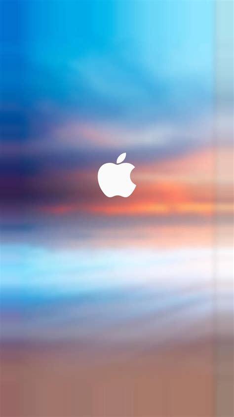 apple logo splash parallax turquoise iphone   iphone