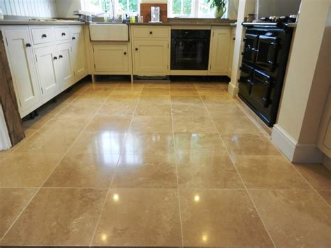 Travertine Kitchen Floor Travertine Floor Re In Hook Berkshire Tile Doctor