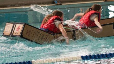 cardboard boat race ontario skills ontario cardboard boat races in espanola my
