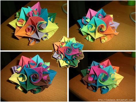 cool origami flower origami flower by lansuxin on deviantart