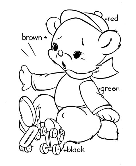 coloring page of a teddy bear teddy bear coloring pages to print coloring home