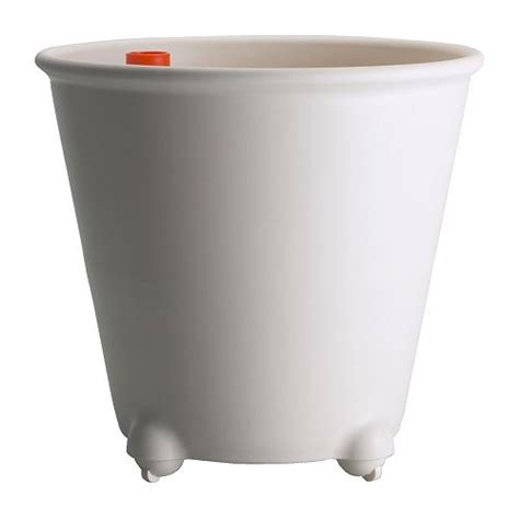 self watering pots ikea ps fej 214 self watering plant pot white ikea