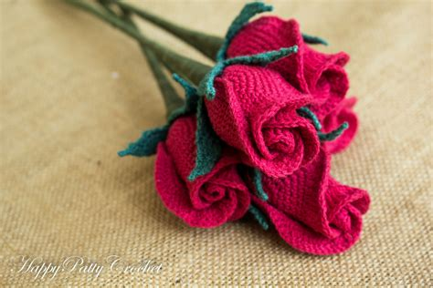3d Home Decor by Crochet Closed Rose Pattern By Happy Patty Crochet