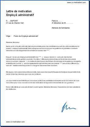 Exemple De Lettre Norme Afnor emploi employ 233 administratif lettre de motivation