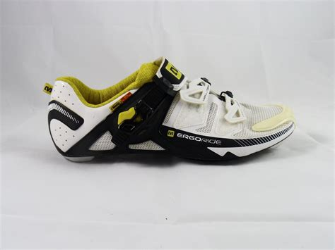 mavic bike shoes mavic ergo zxellium cycling shoe white black and yellow