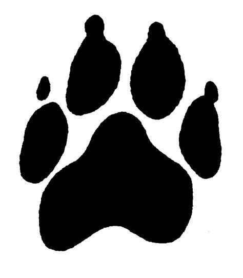 puppy print paw print tattoos dogs clipart best clipart best