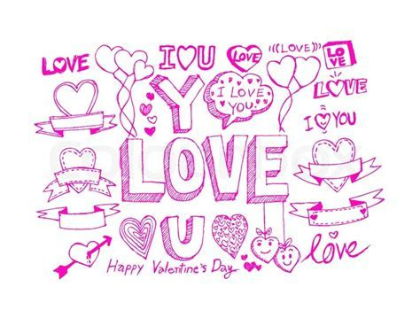 Hand draw Valentine's day design,     Stock Vector