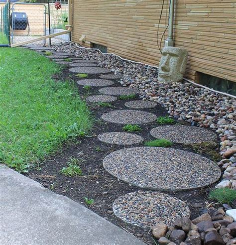 garden paths river rocks and rock and on pinterest