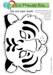 printable tiger mask template printable hand cut out new calendar template site