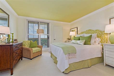 green painted bedrooms add green to the bedroom with a beautiful painted ceiling