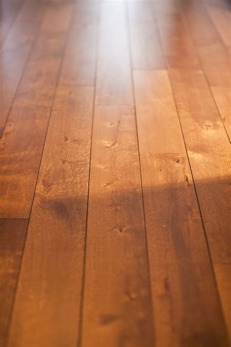 light stained birch hardwood floors   Design by Dennis