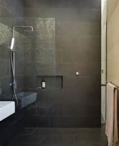 Dark Tile Bathroom Ideas Pinterest The World S Catalog Of Ideas