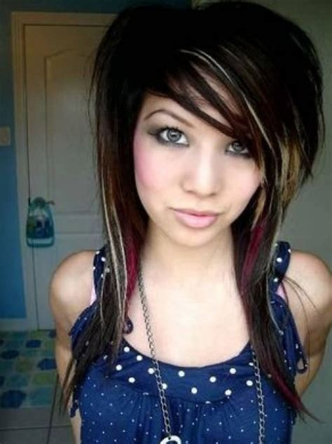 emo hairstyles for long hair girls emo hairstyles for girls latest popular emo girls