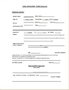annual leave application form template application form
