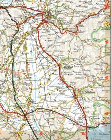 cortona road map cortona italy mappery