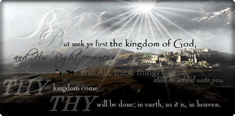 the kingdom of god grow by learning kingdom of god or kingdom of heaven or kingdom of earth now or future