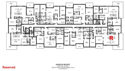 4 unit apartment building plans 4 storey residential building floor plan modern house