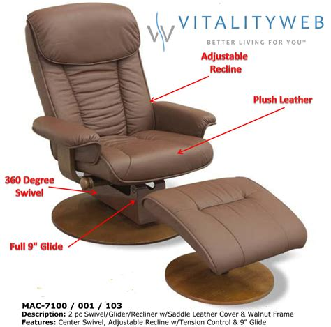 Leather Glider Rocker Recliner Chair With Ottoman Mac Motion 7100 Swivel Glider Recliner Chair With Ottoman