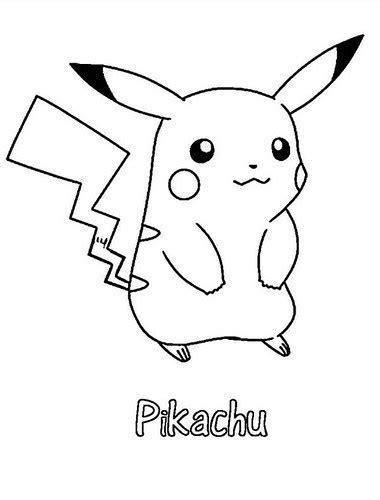 dibujos de pikachu  pintar colorear  imprimir