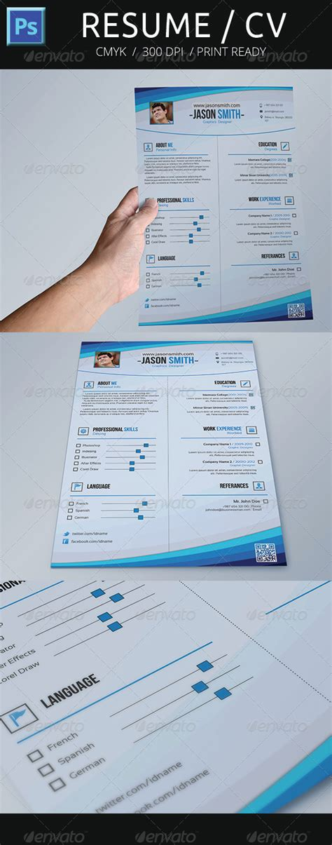 print template graphicriver resume cv 5089077 187 dondrup