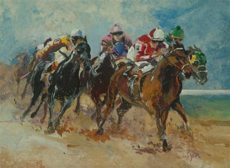 painting racing race painting by jim ryon