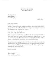 formal permission letter following is an exle of