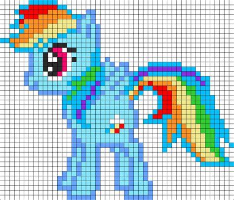 rainbow dash   pony perler bead pattern bead