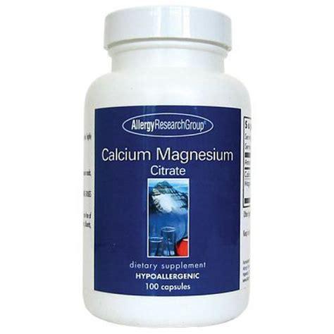 Magnesium Citrate Mercury Detox by Allergy Research Calcium Magnesium Citrate 100