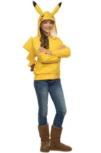 Pokemon Costumes Pokemon Pikachu Hoodie Girls Child Tween Costume Ebay