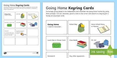 Pshe Homework Ks2 by Going Home Keyring Cards Independent Information Ks2 Ks3