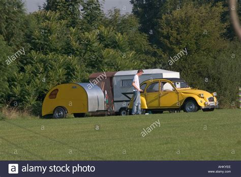 Citroen Deux Chevaux by Yellow Citroen Deux Chevaux 2cv With Matching Cer