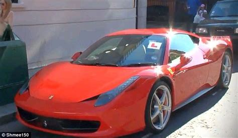 L For Car by L Plates Spotted On Gleaming 458 Italia Supercar