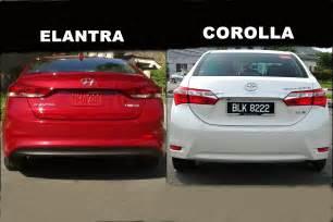 Hyundai Elantra Vs Toyota Corolla 2013 2017 Hyundai Elantra Vs 2016 Toyota Corolla