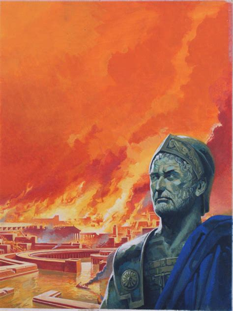 Novel Flames Original hannibal with carthage in flames by severino baraldi at the illustration gallery