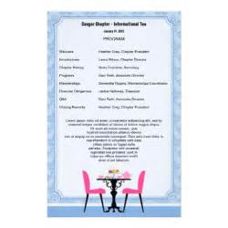 home images tea party program template stationery tea