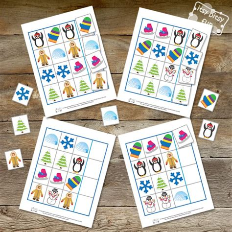 pattern recognition card game winter pattern recognition file folder game itsy bitsy fun