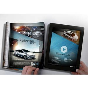 lexus lanza un novedoso anuncio impreso que cobra vida