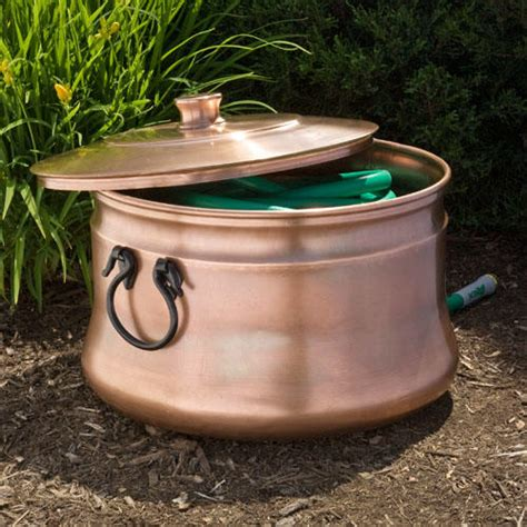 signature hardware kettle copper hose pot with handles