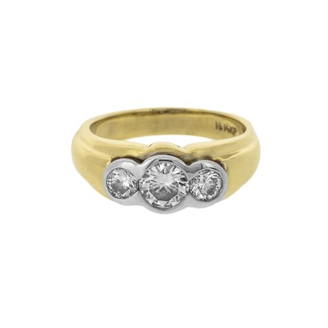 wide ridged trilogy ring from lila s jewels uk