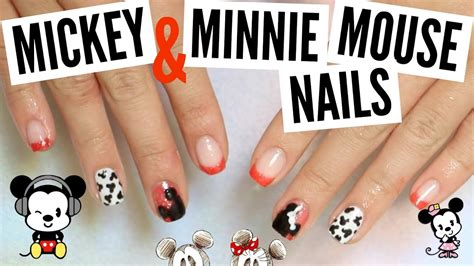 diy color changing nail diy gel color changing mickey minnie mouse nails