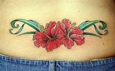 lower back flower tattoos lower back flower designs