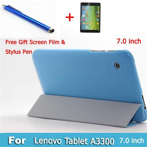 Lenovo Tab A7 30 A3300 7 0 Inchi Tempered Glass Screen Guard Tablet Tg 7 inch folio pu leather cover for lenovo tab a7 30 a3300 tablet pc free gift screen