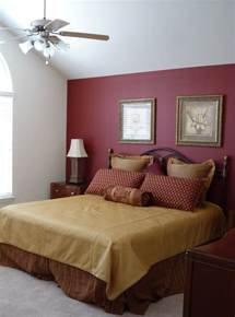 Accent Wall Ideas Bedroom by Large Master Bedroom With Red Accent Wall Paint New