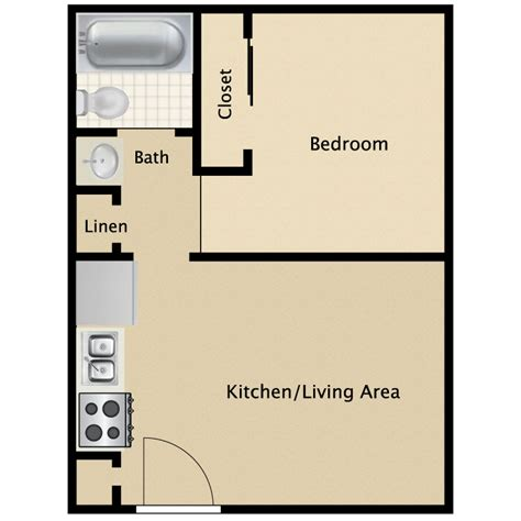1 bedroom bath apartment floor plans