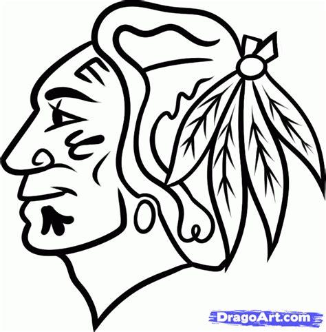 how to draw blackhawks logo