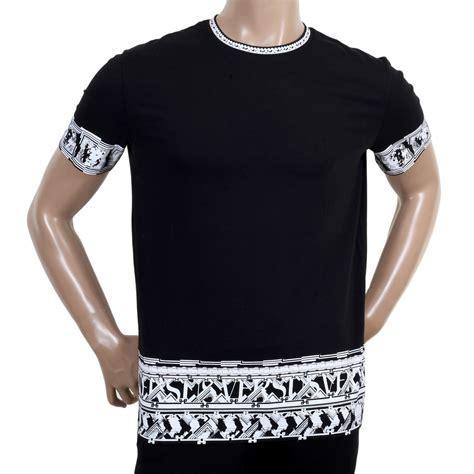 Print Sleeve T Shirt buy black sleeve printed t shirt by versace