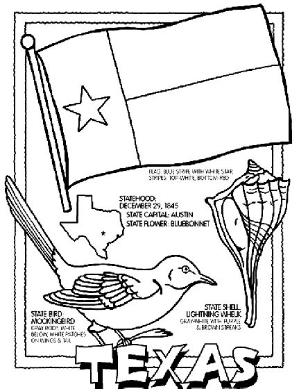texas coloring pages to print coloring pages