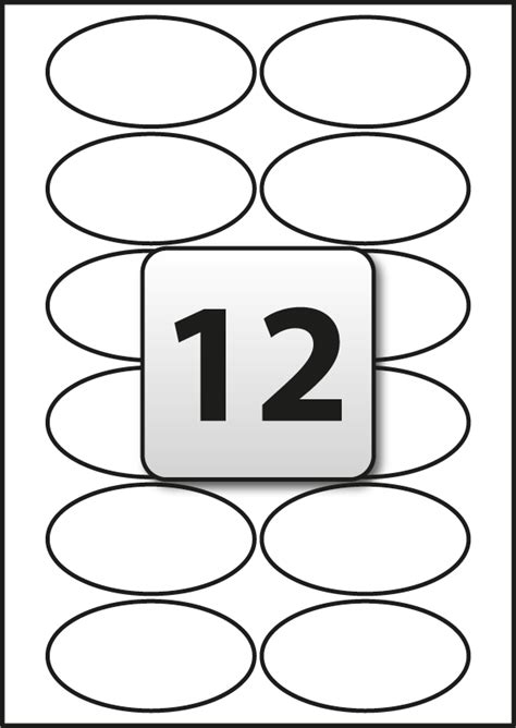 Address Labels Flexi Labels Oval Label Template 18 Per Sheet